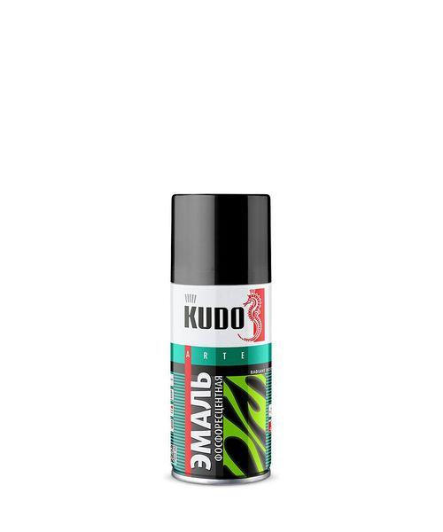 """KUDO 12501 Эмаль фосфоресцентная  """"зелено-желтая"""" 250ml."""