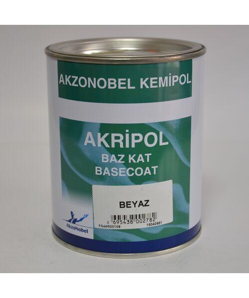 AKRIPOL  Базовая эмаль под лак  001  (белый) 1L